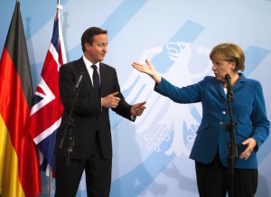 David Cameron e Angela Merkel