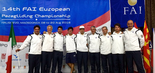 Il team italiano al 14th European Paragliding Championship