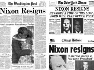 Washington Post e New York Times del 9 agosto 1974