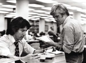 """All the President's Men"" Dustin Hoffman, Robert Redford 1976 Warner Brothers ** I.V."