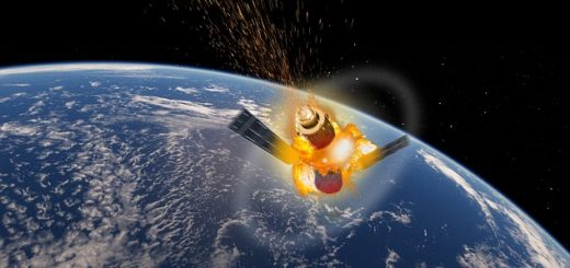 Tiangong 1 explosion mock up  leo delauncey/mail online