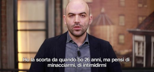 "Il video in cui Roberto Saviano dà del ""buffone"" al Ministro dell'Interno Matteo Salvini"
