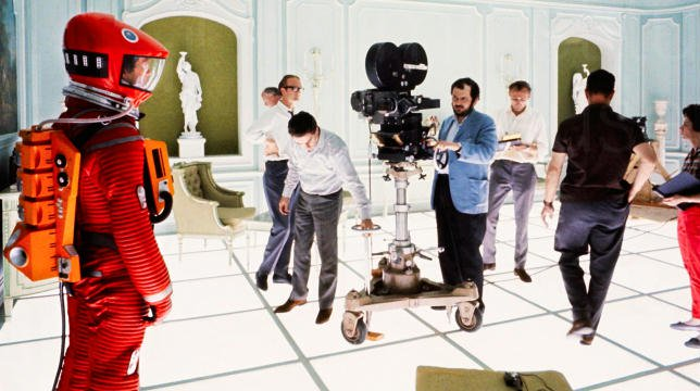 Stanley Kubrick dirige Keir Dullea, il David Bowman di 2001, a space odissey