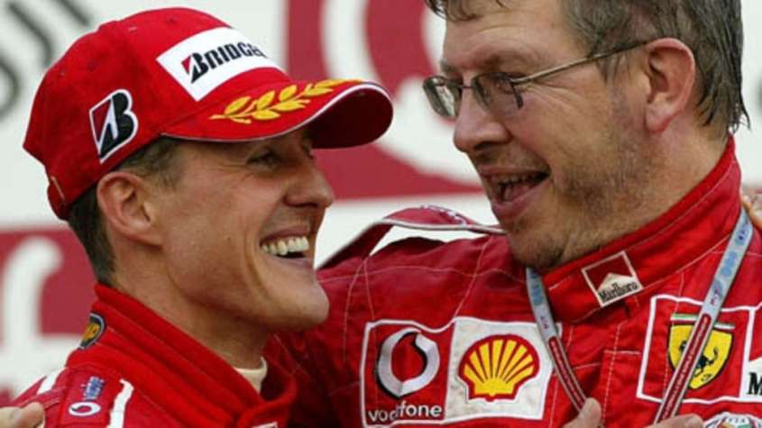 Michael Schumacher e Ross Brown