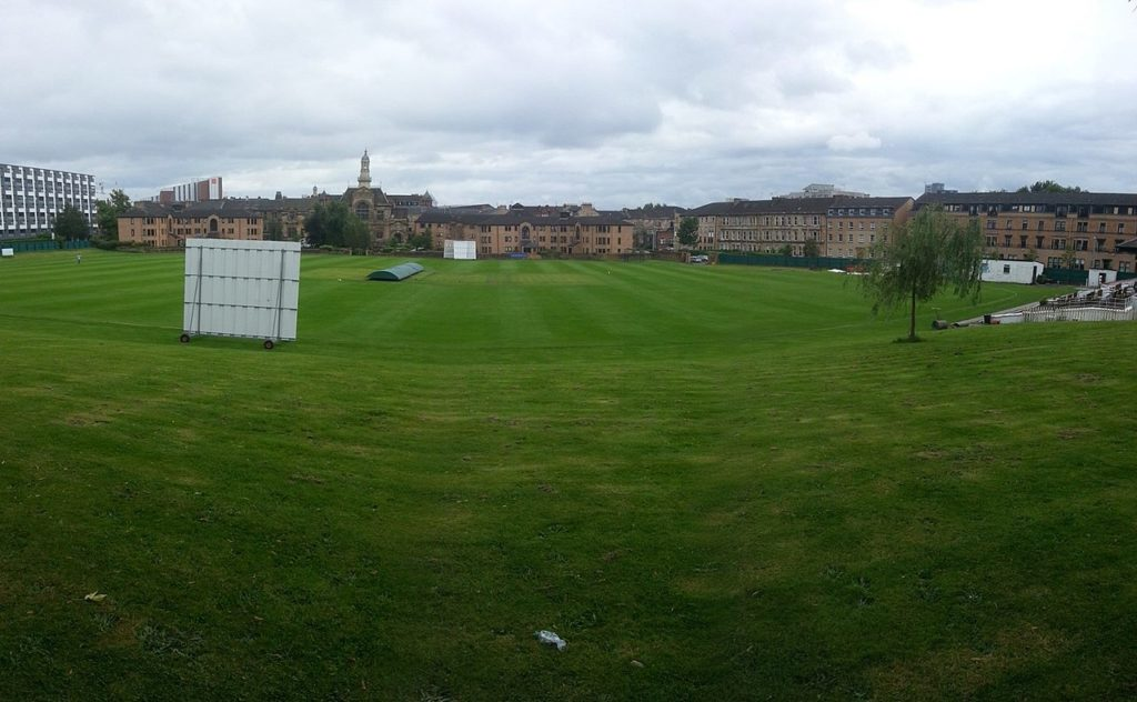 Lo stadio del West of Scotland Cricket Club ad hamilton Crescent, Partick, Glasgow.