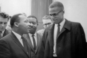 Malcom X con Martin Luther King