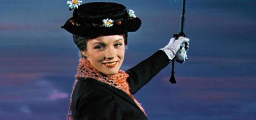 L'attrice Julie Andrews, interprete di Mary Poppins