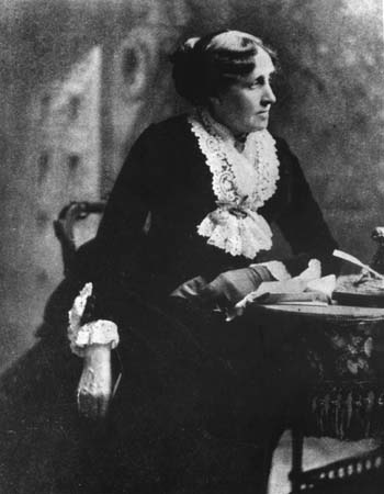La scrittrice Luise May Alcott ( Germantown, 29.11.1832- Boston, 6.04.1888)
