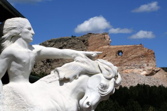 Il Crazy Horse Memorial, monumento a Cavallo Pazzo nel South Dakota.