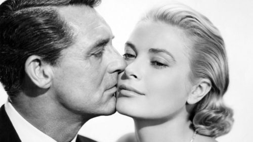 Cary Grant insieme all' attrice Grace Kelly