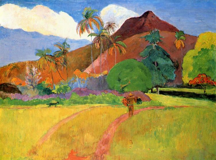 Paul Gauguin, Les montagnes tahitienne, 1893; French Polynesia