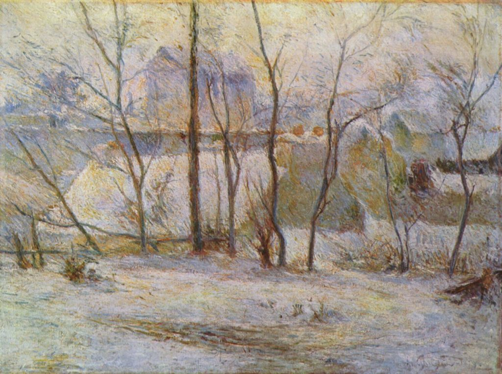 Paul Gauguin, Giardino innevato (1879), Museum of Fine Arts, Boston